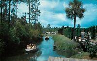 Okefenokee Swamp Park Waycross Georgia GA boat ride Postcard
