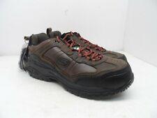 SKECHERS WORK Men's Composite Toe Composite Plate Work Shoe 77777059 Brown 10.5M