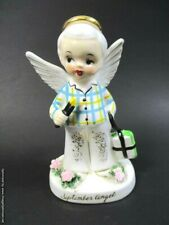 Napco 1956 'September' Schoolboy Birthday Angel w/books and pencil #A1925