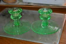 """Set of 2 Candlesticks Pair 4"""" Clear Glass Taper Candle Holder Thanksgiving XMas"""
