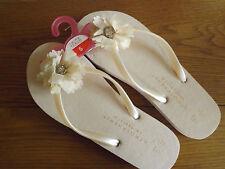 ladies sandal slipper beach toe post shoe size Small flower design bnwt 36/37