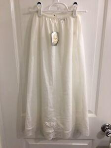 NWT Vintage Christian Dior White Nylon & Lace Slip Size 29 Petite BEAUTIFUL!