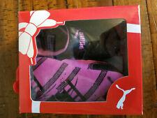 Puma Girl Crib Shoes Size 4 Purple and Black - New