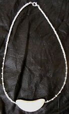 Native American Navajo Indian White Howlite Moon 18 inch Child Necklace