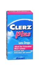 Alcon Clerz Plus Lens Drops 1/6oz (5mL) EXP 09/2018 *New & Sealed* FREE S&H!