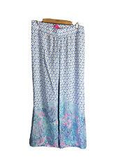 lilly pulitzer palazzo pants Large NEW Women Sea La Vie Bal Harbour Boho Lounge