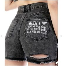 Disturbia Kiss My Arse High Waisted Shorts SOLD OUT