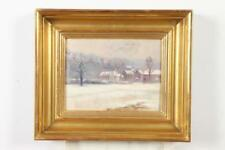 FRENCH SCHOOL (20th century). VILLAGE IN SNOW, oil on panel. Lot 499