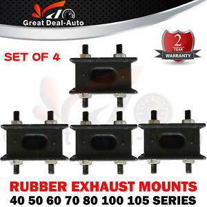 For Toyota Landcruiser 40 50 60 70 80 100 105 Series Rubber Exhaust Mount Set
