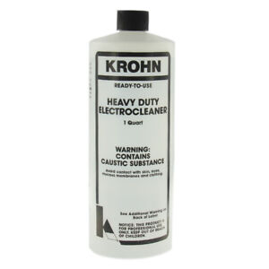 Krohn Heavy Duty Electrocleaner Plating Cleaning Solution One Quart Ready To Use