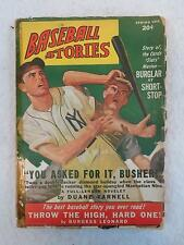 Vintage BASEBALL STORIES Fact and Fiction Magazine Spring 1948 Vol. 2, No. 9
