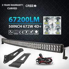 MOUNT BRACKET FIT FOR SILVERADO GMC SIERRA 1500 + 50INCH 672W LED WORK LIGHT BAR