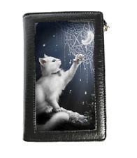 SHEBLACKDRAGON 3D LENTICULAR PURSE/ WALLET SNOW KITTEN NEW DESIGN OCCULT/ WITCH