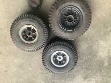 "Vintage Go Kart Aluminum wheels Rim Hub 4"" And 5"" with tires."