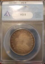 1806 50C Draped Bust Half Dollar ANACS VG 8