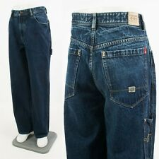 MENS VINTAGE 90'S ECKO JEANS BLUE DENIM HIP HOP CARPENTER GANGSTER RAP W34 L32