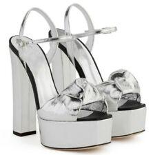 Sexy Women Platform Super Block High Heel Buckle Strap Bowknot Banquet Sandals L