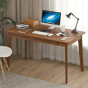 Solid Wood Writing Study Table Workstation Computer Laptop PC Desk Office Home