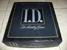 I.D, THE IDENTITY GAME, 1988 BY MILTON BRADLEY