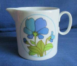 Thomas für Rosenthal, Milchkännchen Medaillon blaue Blume, Vintage, Porzellan