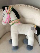 Disney Store Sleeping Beauty Samson Prince Philip's Horse Plush Gray Flowers
