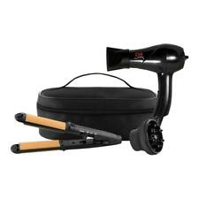 CHI Air Classic Travel 2 Piece 3-in-1 Hairstyling Iron and Dryer Zip Bag Black