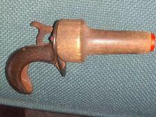 Antique Cast Iron Miniature Pistol Gun 4 Inches Long Rare Find 1890