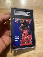 Michael Jordan SGC 7.5 NM 1991 Fleer SLABBED INVEST Against Inflation Last Dance