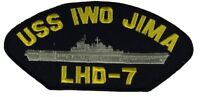 USS IWO JIMA LHD-7 PATCH USN NAVY SHIP WASP CLASS AMPHIBIOUS ASSAULT IRON GATOR