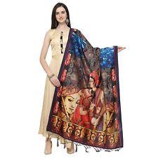 Women Digital Print Silk Dupatta Tippet Scarf Traditional Wear