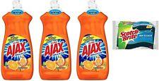 Ajax Ultra Dish Washing Detergent 14oz Liquid Soap 3 Pack Kitchen Cleaner Grease