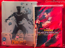 Black Panther (Blu-ray 3D + Blu-ray) Zavvi Limited Edition Steelbook + Art Cards