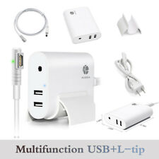 AC 60W L-Tip Power Adapter/ Dual USB port Charger For Macbook A1181 A1184 iPhone