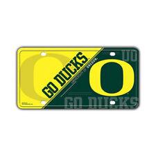 "Metal Vanity License Plate Tag Cover - University of Oregon Ducks - 12"" x 6"""