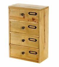4 Drawer Cabinet Storage Unit Free Standing Wooden Cupboard Shabby Chic Wooden