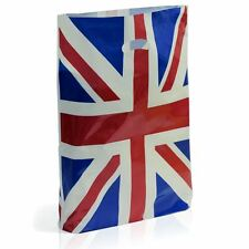 """Union Jack Standard Plastic Carrier Bag Small 10"""" x 12"""" + 4"""" Pack Of 100"""