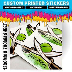 Custom sticker printing   Waterproof Product Vinyl Stickers   Cut to any shape