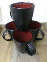 Set of 4 Gibson Designs SOHO LOUNGE-RED Mugs 7681426 EXCELLENT CONDITION