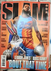 """SLAM MAGAZINE-AUGUST/SEPTEMBER 2021-LEBRON JAMES-BUGS BUNNY-""""BOUT THAT TIME"""""""