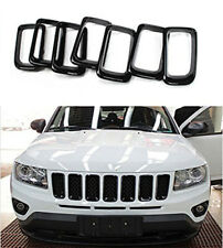 fit 2011-2016 Jeep Compass Black ABS Front Grille Grill Vent Hole Frame Trim