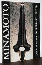 MINAMOTO catalogo novembre 1980 Roma Galleria Schneider