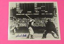 BOB FELLER AUTOGRAPHED SIGNED 8x10 Black and White Photo with COA