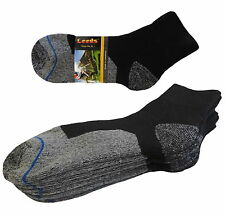 4 Pk ANKLE PREMIUM QUALITY HEAVY CUSHION SOCKS COTTON BLACK GRAY SIZE 10-13