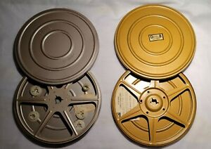 """vintage """"dual"""" 8mm take up reel and case"""