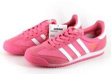 7bbdc85fd adidas Originals Dragon OG J Older Girls UK 4 Pink   White Trainers Tiny  Defect