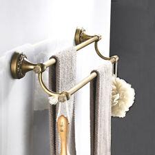 Vintage Brass Towel Rail Hanger Rack Towel Bar Holder Bathroom Storage Rack