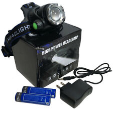 LED Rechargeable Water Resistant Lightweight 800 Lumen Adjustable Zoom Headlamp