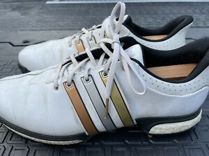 adidas tour 360 golf shoes size 11.5 Olympic stripes gold silver bronze