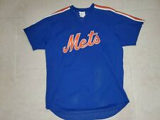 Vintage Majestic New York Mets Baseball Jersey 80's Stitched XL Made In USA