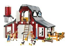 Kids Playmobil Farm Barn Silo Play Set Pretend Boy Gift Horse Cow Chicken New